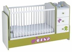 Кроватка Polini Basic Elly с комодом (трансформер)