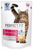 Корм для кошек Perfect Fit для здоровья кожи и шерсти, с курицей 85 г (кусочки в соусе)