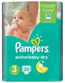 Pampers подгузники Active Baby-Dry 3 (5-9 кг) 22 шт.