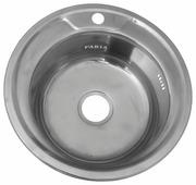 Врезная кухонная мойка Fabia 049 0.6/160 49х49см нержавеющая сталь