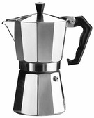 Кофеварка гейзерная PEPITA,150мл,3 чашки,алюминий,цвет-хром