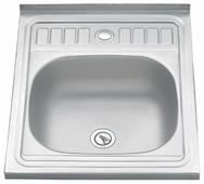 Накладная кухонная мойка Ekoline WY6050 50х60см нержавеющая сталь