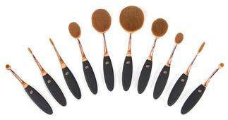 Набор кистей Rio Professional Microfibre Oval Cosmetic Brush Collection, 10 шт.