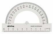 Rotring Транспортир Centro полукруглый 10 см (S0221230)