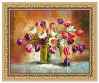 Алмазная живопись Набор алмазной вышивки Цветы тюльпанов (АЖ-1131) 50х40 см