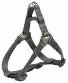 Шлейка для собак TRIXIE One Touch Harness XL 25 мм 80-100 см графит (204716)
