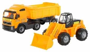 Набор машин Полесье Грузовик с полуприцепом и трактор-погрузчик (0384)