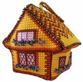 ZENGANA Набор для вышивания бисером и нитками Солнечный домик 8 х 6 х 8 см (М-062)