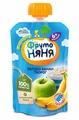 Пюре ФрутоНяня из яблок и бананов с творогом (с 6 месяцев) мягкая упаковка 90 г, 1 шт