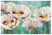 Алиса Набор для вышивания крестиком Белые маки 40 х 27 см (2-38)