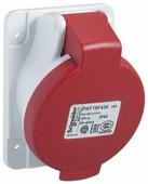 Розетка скрытой установки угловая, винт 16А 3P+N+E IP44 380В Schneider Electric, PKF16F435