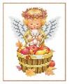 Канва для вышивания с рисунком Каролинка Сбор урожая КБА-5017 12.5 х 16 см