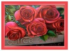 Алмазная живопись Набор алмазной вышивки Прекрасные розы (АЖ-1170) 50х35 см