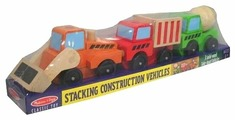 Конструктор Melissa & Doug Classic Toy 3076 Stacking Construction Vehicles