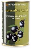Aceitunas Gonzalez Маслины Gold с косточкой, жестяная банка 425 г