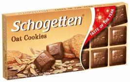 Шоколад Schogetten Oat Cookies молочный с кусочками овсяного печенья