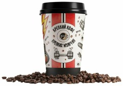 Кофе в стакане Всякие штуки Крепкий кофе для крепких мужчин
