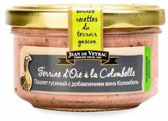 Паштет Jean de Veyrac гусиный с добавлением вина Коломбель 130 г