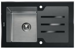 Врезная кухонная мойка Tolero Glass TG-780 78х50см нержавеющая сталь