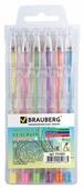 BRAUBERG набор гелевых ручек Jet 6 цветов Пастельные, 0.7 мм (141033)