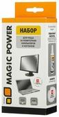 Набор MAGIC POWER MP-836 чистящая жидкость+сухие салфетки 15 шт. для экрана