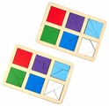 Набор рамок-вкладышей Raduga Kids Сложи квадрат уровень 2 (RK1139)
