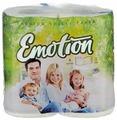Туалетная бумага Мягкий знак Emotion белая трёхслойная