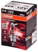 Лампа автомобильная галогенная OSRAM NIGHT BREAKER UNLIMITED 64193NBU H4 +110% 60/55W 1 шт.