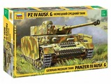 Сборная модель ZVEZDA Немецкий средний танк Pz IV Ausf. G (3674) 1:35