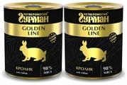 Корм для собак Четвероногий Гурман Golden Line кролик