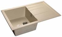 Врезная кухонная мойка GranFest Quadro GF-Q780L 78х50см искусственный мрамор