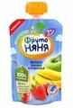 Пюре ФрутоНяня десерт из яблок, бананов и клубники (с 7 месяцев) 90 г, 1 шт