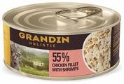 Корм для кошек Grandin с куриным филе, с креветками 70 г