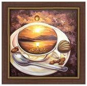 Алмазная живопись Набор алмазной вышивки Кофейное путешествие (АЖ-1171) 40х40 см