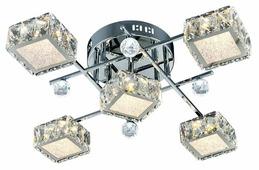 Люстра Максисвет Геометрия 1-1692-5-CR Y LED