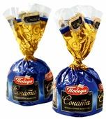 Конфеты Победа вкуса Соната с лесным орехом и ореховым кремом, коробка
