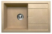 Врезная кухонная мойка Tolero R-112 76х50см полимер