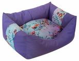 Лежак для собак ZOOexpress Пухлик Дикие травы №2 49х36х22 см