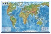 Globen Интерактивная карта Мир физический 1:29 (КН038)