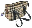 Переноска-сумка для собак Бобровый Дворик Шотландка №1 40х24х26 см