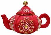 ZENGANA Набор для вышивания бисером и нитками Чайник Рококо 14 х 8 см (М-082)