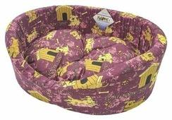 Лежак для кошек, для собак Бобровый Дворик с бортиком Эксклюзив №1 42х35х16 см