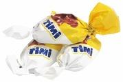 Конфеты Konti Timi, начинка суфле, сливочный и банановый вкус, пакет