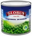 Горошек зеленый Globus, жестяная банка 425 г