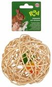 Игрушка для грызунов Fauna International Мяч плетеный 12см ротанг