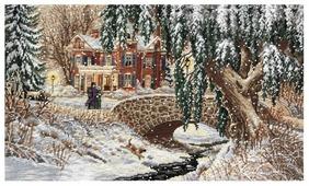 Dimensions Набор для вышивания Winter Lace (Зимние кружева) 43 х 25 см (35111)