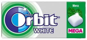 Жевательная резинка Orbit White Mega Мята, 16.4 г