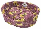 Лежак для кошек, для собак Бобровый Дворик с бортиком Эксклюзив №3 55х43х16 см