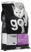 Корм для кошек GO! Fit + Free беззерновой, для здоровья кожи и шерсти, с лососем, с курицей, с индейкой, с уткой