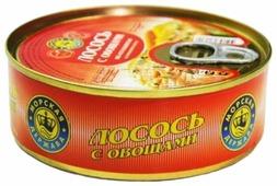 Морская Держава Лосось с овощами в томатном соусе по-итальянски, 220 г